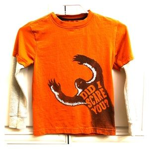 🌟 2/$20 Gymboree boys youth l/s print shirt